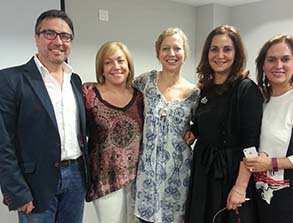 Con la Dra. Mónica Ulecia de Sevilla, ponente y compañeros de Galicia