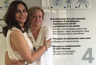 Con mi compañera de Sevilla.