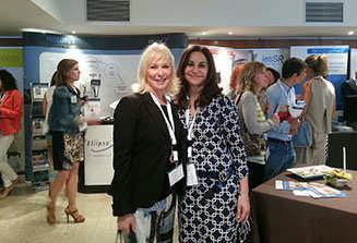 Con la Dra. Lourdes Aloy de Barcelona. Me sentí muy arropada con compañeros de tanto nivel.